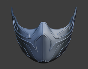 Frost Cyberpunk Female Mask For Face From Mortal Kombat 11 3d Print Model Female Mask Mortal Kombat 3d Printed Mask