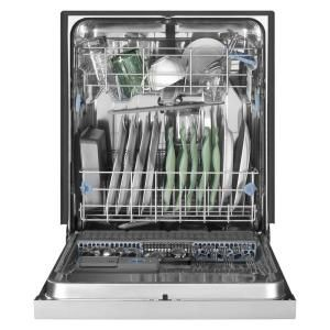Whirlpool Gold Front Control Dishwasher In Black With Stainless Steel Tub Wdf750sayb At The Home Depot Steel Tub Kitchenaid Dishwasher Top Control Dishwasher