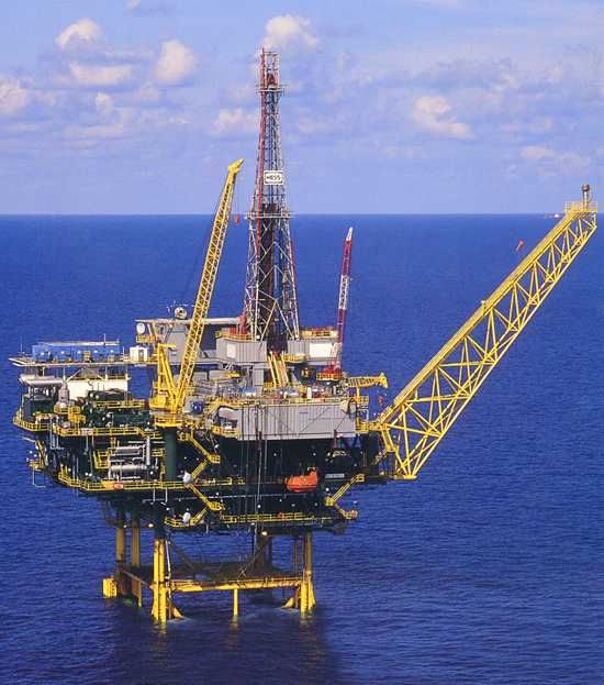 The Baldpate Platform In The Gulf Of Mexico Oil Platform Oil And Gas News Oil Rig