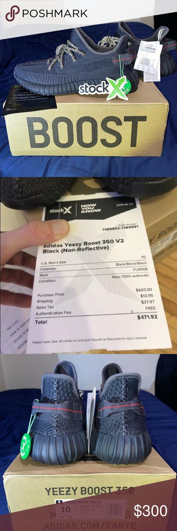 yeezy 350 v2 black reflective stockx