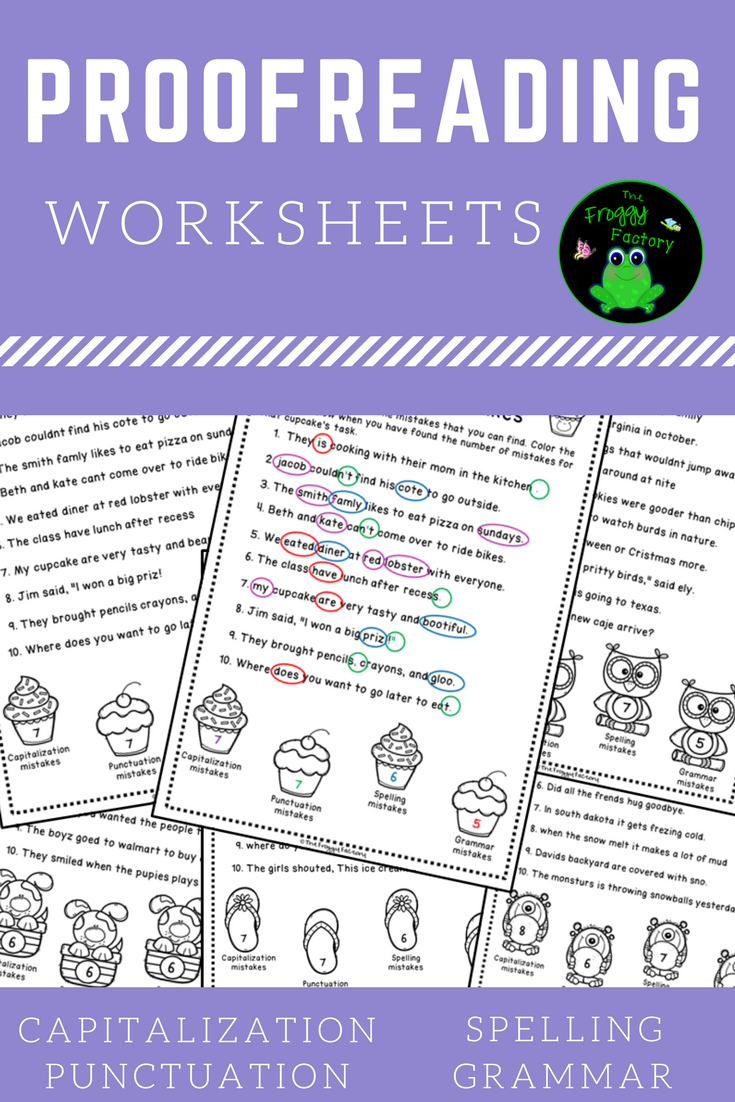 Proofreading Worksheets Editing Practice   Teaching writing [ 1102 x 735 Pixel ]
