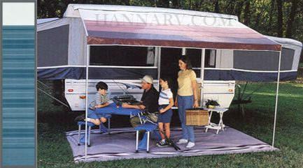 A E Dometic 944gp08 002 8 Foot Blue Steel Trim Line Pop Up Tent Trailer Camper Awning Pop Up Tent Trailer Camper Awnings Awning Canopy