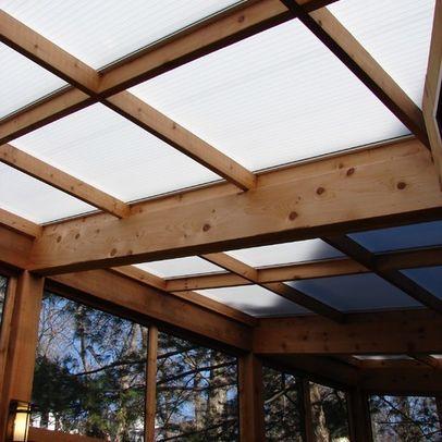 polycarbonate roof with screen walls deco exterieur pinterest spa exterieur ext rieur. Black Bedroom Furniture Sets. Home Design Ideas
