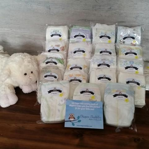 Custom variety package of diaper samples size 1 Winter Baby - baby shower samples
