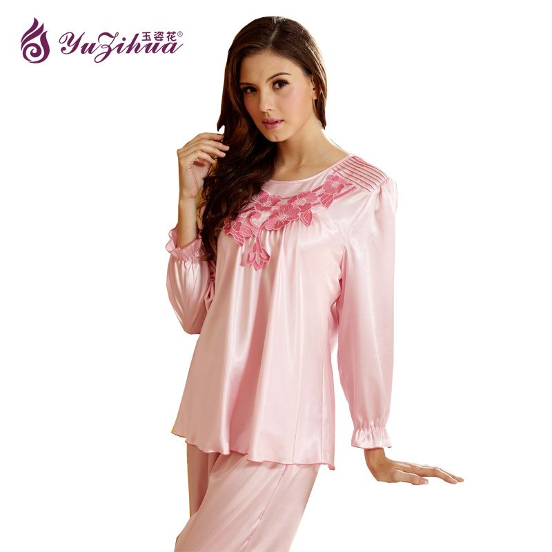 Yuzihua New Sleepwear Pajamas Set Robe Gown Set Women Fashion ...