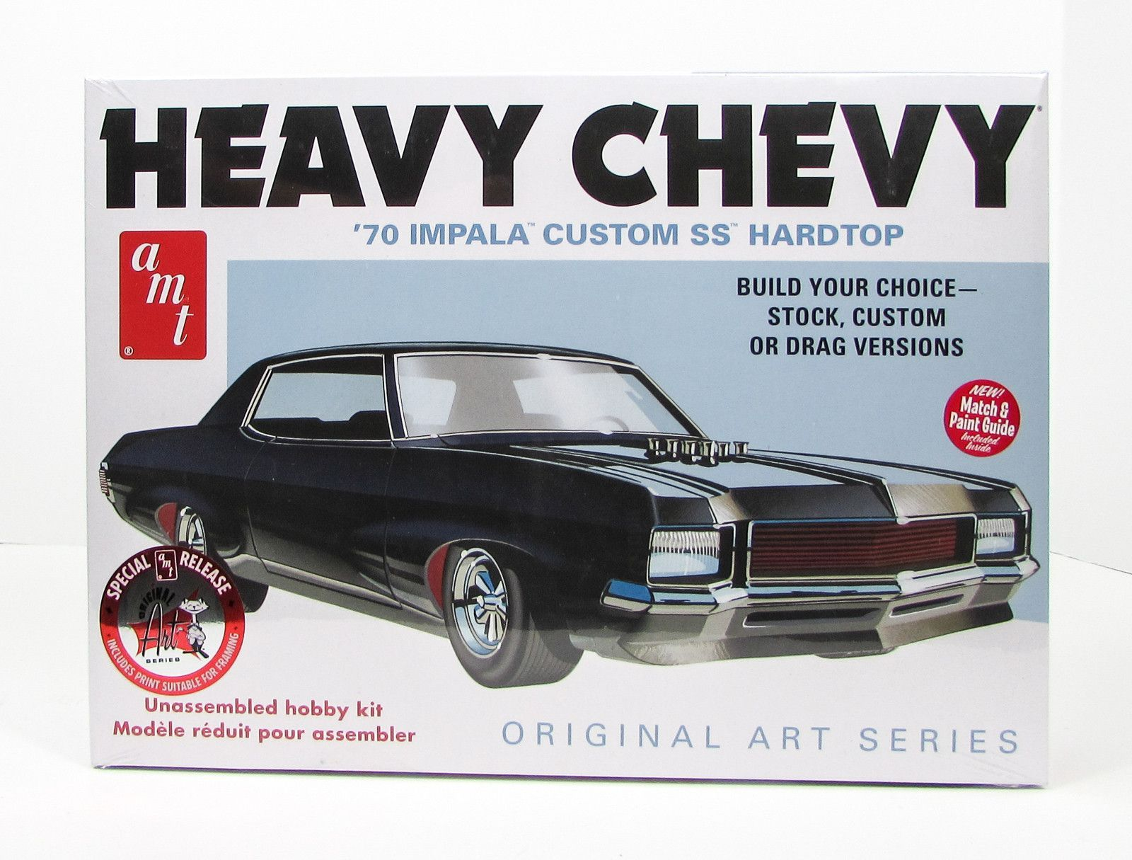 new model car kit releases1970 Chevy Impala Heavy Chevy AMT 895 125 New Car Plastic Model