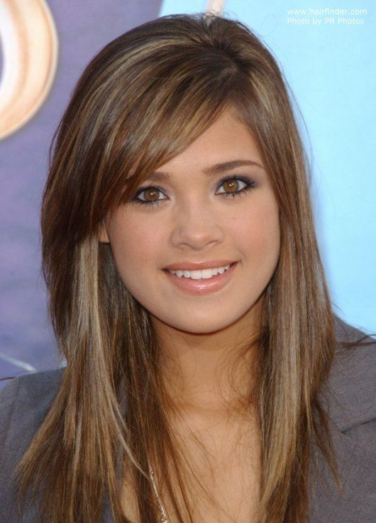Long Hairstyles For Round Faces Beauteous Best Long Hairstyles With Side Bangs  Natural Hair Care  Bea