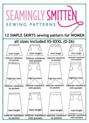 Maxi Skirt pdf sewing pattern for Women, women maxi skirt sewing pdf ...