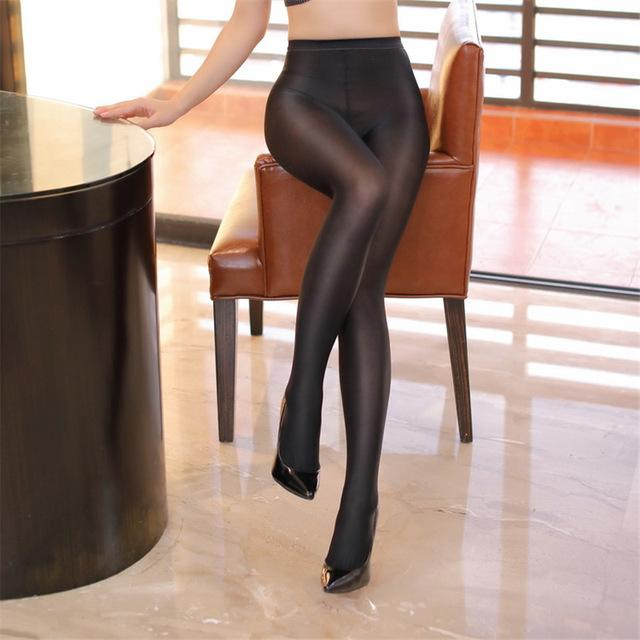 565de6c374891 70D New Fashion Women Girls 2 Color Tights Lady Sexy Smooth satin shiny  SHAPING oil stockings Female High Quality Pantyhose
