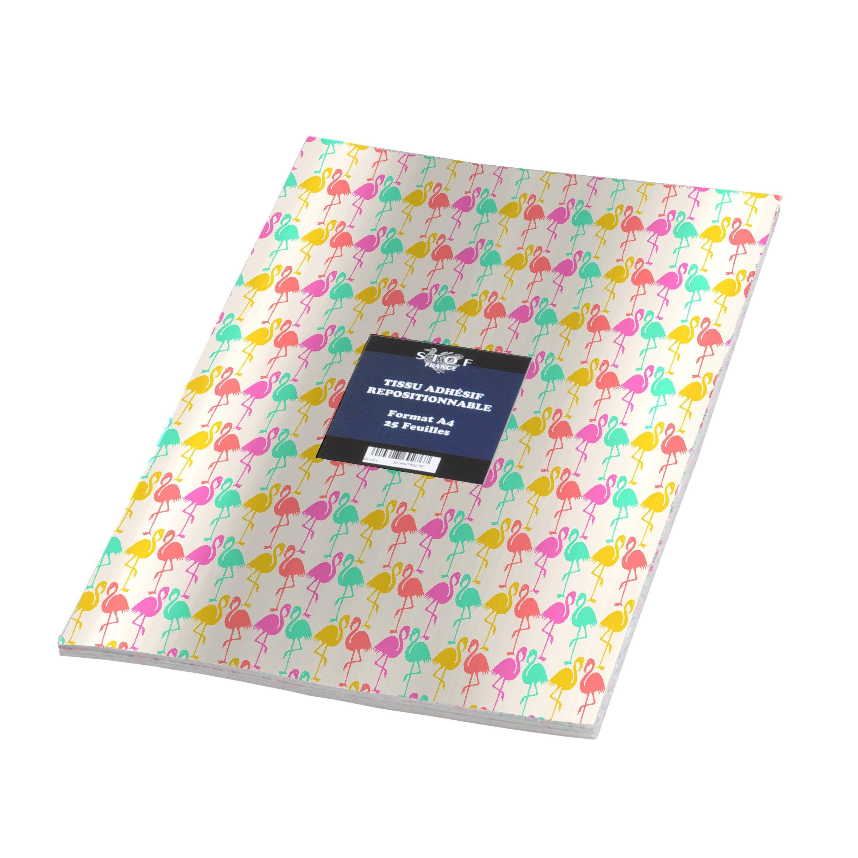Sticker Adhesif Tissu Camargue 21 Cm X 29 7 Cm Tissu Camargue