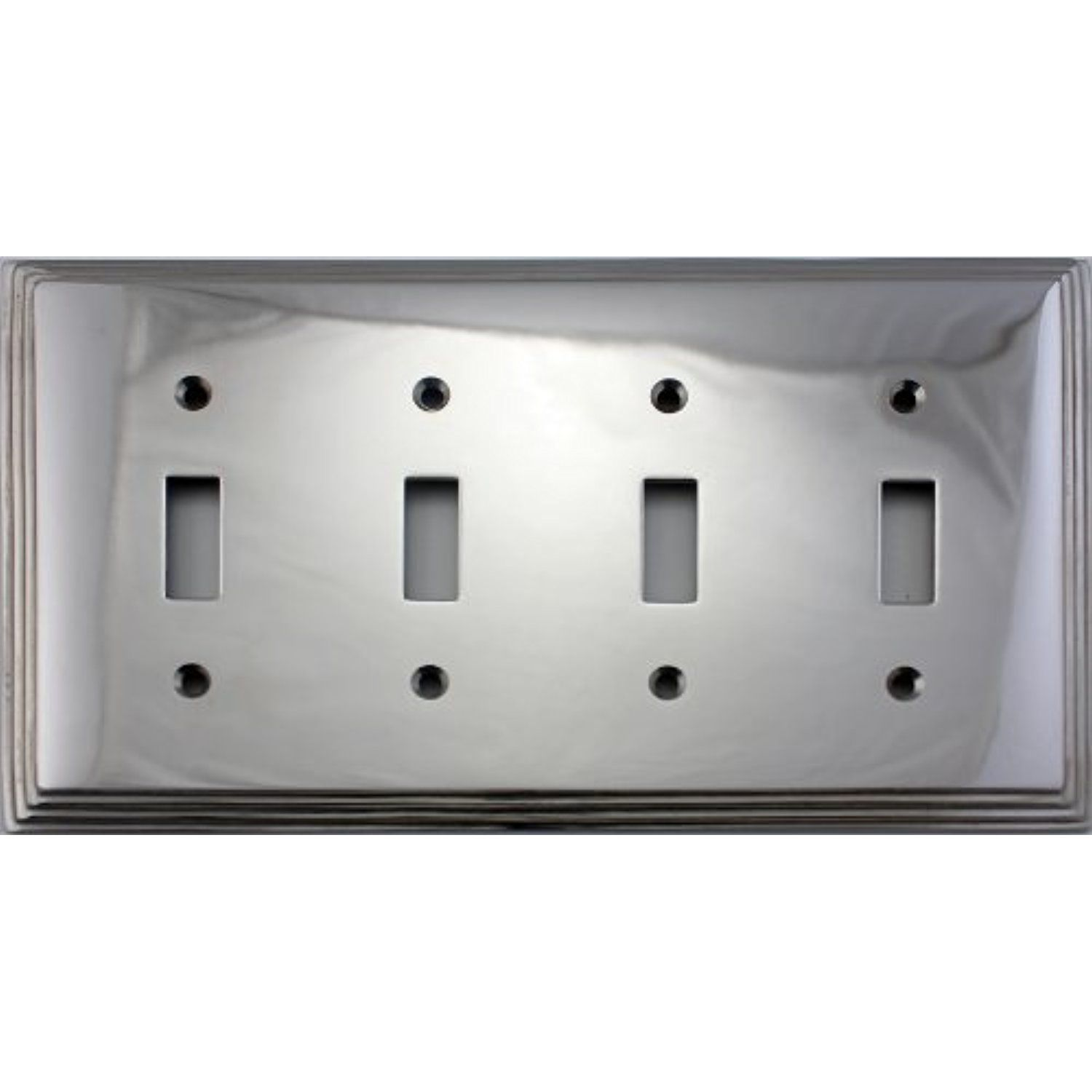 Polished Nickel Deco Step Style Four Gang Toggle Light Switch Wall Plate You Can Find Out More Details A Plates On Wall Toggle Light Switch Polished Nickel