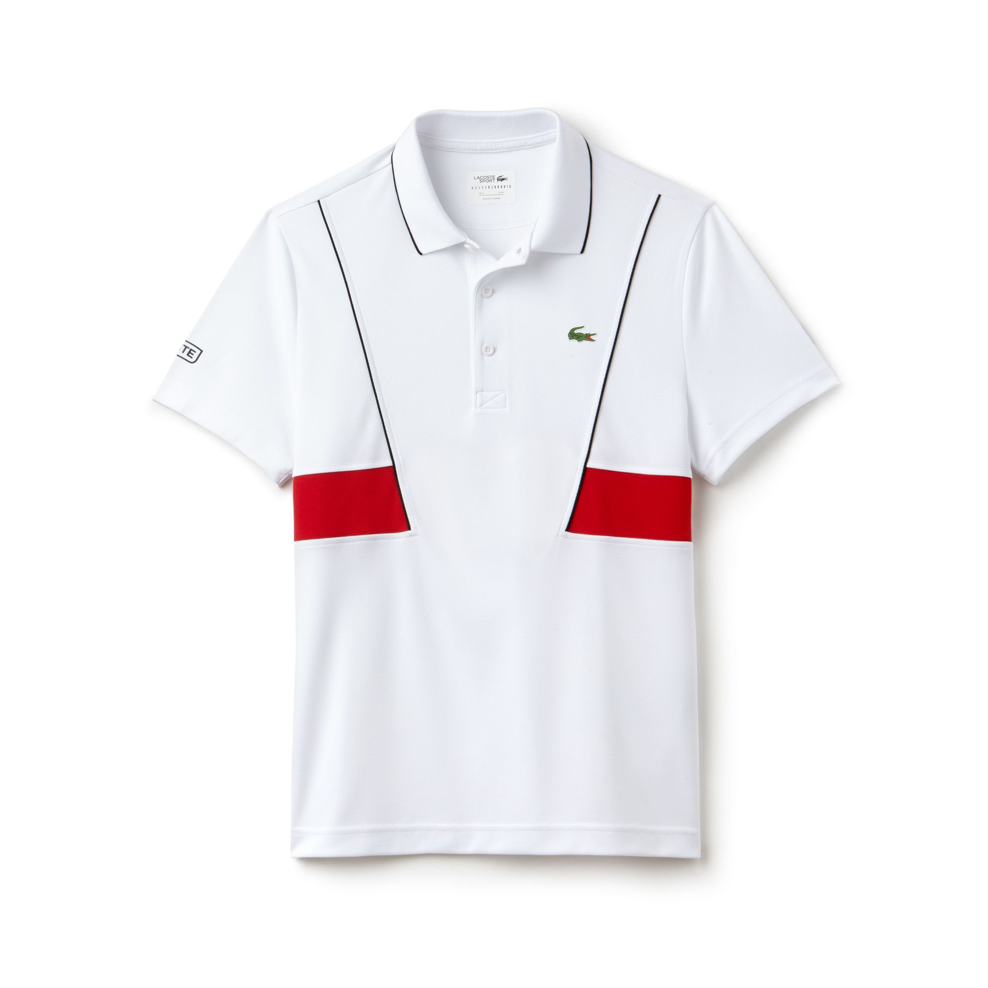 A Lacoste Sport Tennis Polo In Ultra Resistant Technical Pique With Contrast Trim And Bands Developed By Lacoste For Novak D Novak Djokovic Polo Lacoste Sport