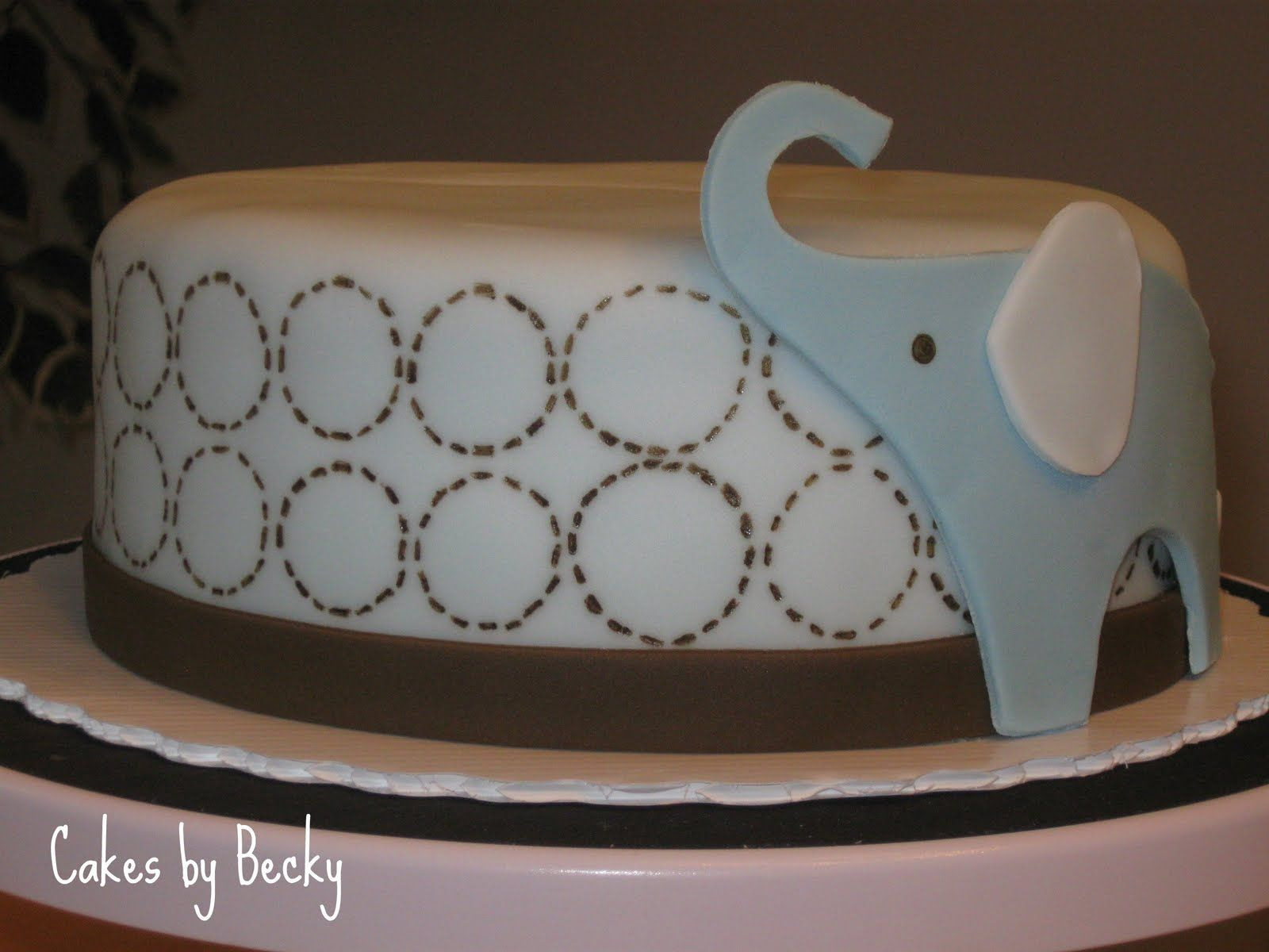 Baby Shower Cakes With Elephants ~ Cakes by becky blue elephant baby shower cake rory skye