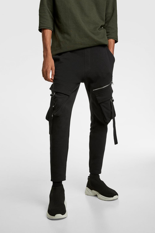 Pantalon Cargo Cintas Joggers Pantalones Hombre Zara Mexico