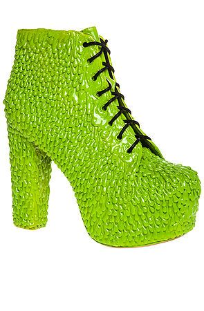 cc06aa04a970 Jeffrey Campbell Shoe The Lita Drip Exclusive in Slime Green