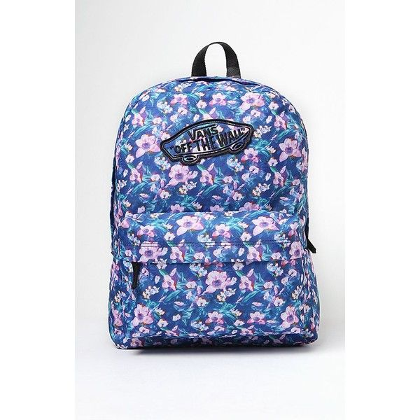 5641d11210 Vans Realm Floral Print School Backpack ( 35) ❤ liked on Polyvore featuring  bags