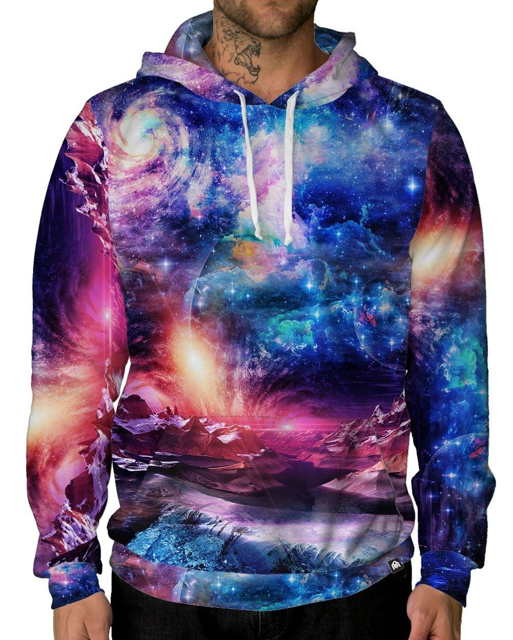 Europa Unisex Hoodie-male front
