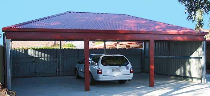 Flat Roof Double Metal Carport Melbourne Builders  in ...