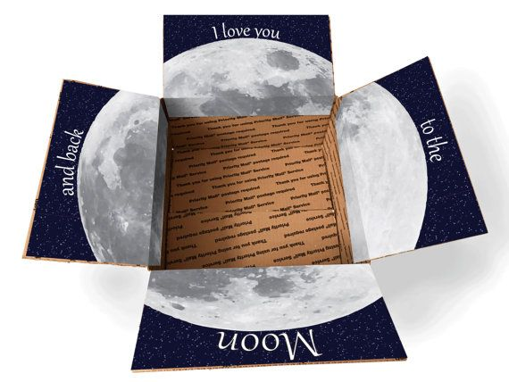 Care Package Box Sticker Kit – Love You To The Moon /Missionary Care Package/Military Care Package/Box Care Package/Packaging Box