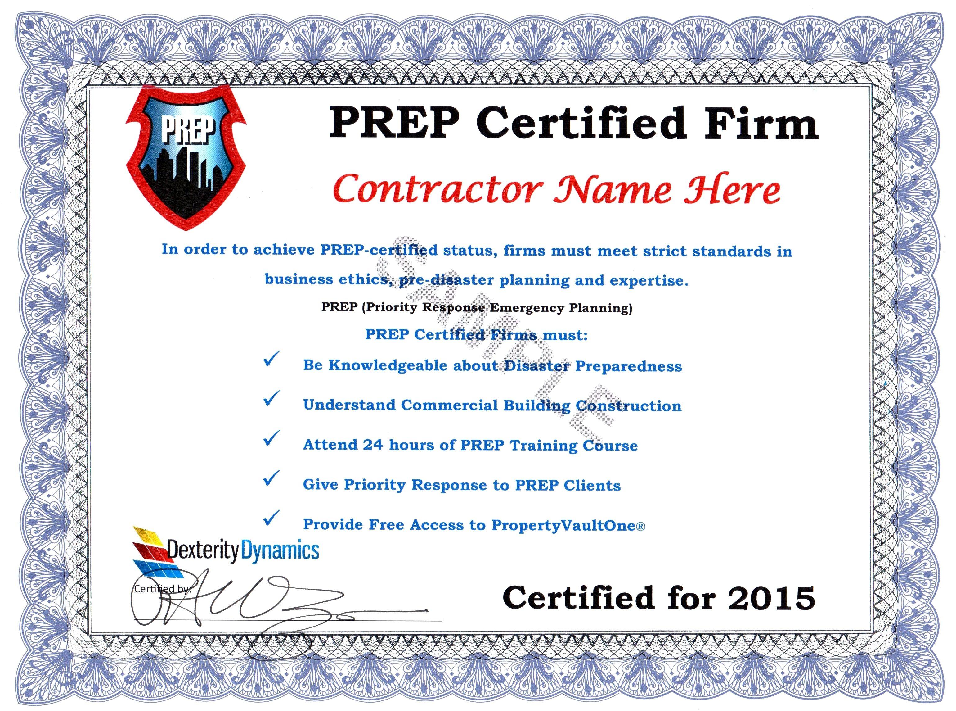 Prep Certification Askdickwagner Disaster Restoration Sales