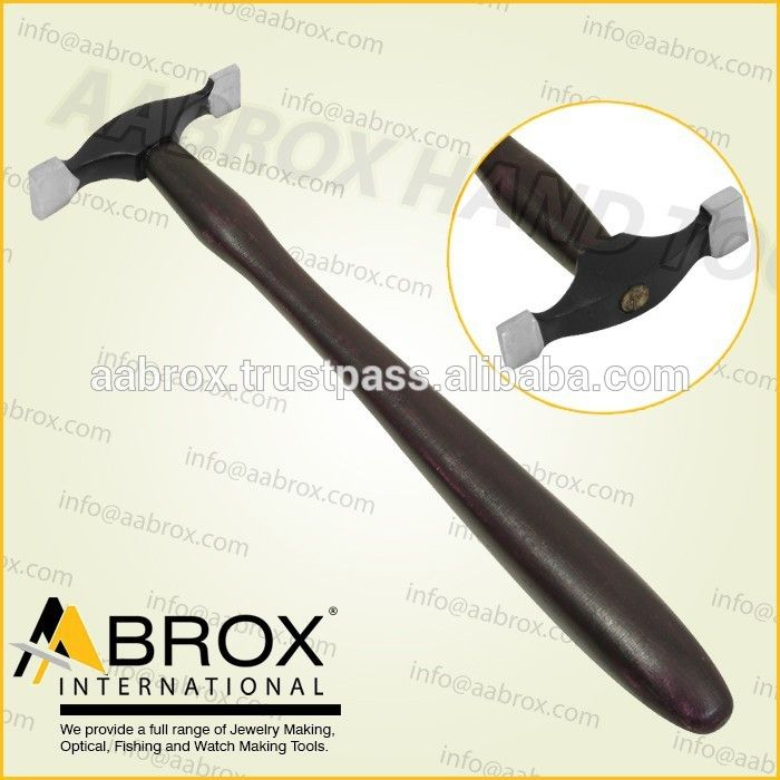 Model Number: AI-HMP-108   Small Raising Jewelers Forming Hammer    Highly tempered Carbon Steel,      Straight Faces,      Faces are 3 X 14 MM & 5 X 15 MM,      Head Length: 6.5 CM,      Light Weight 60 gram.
