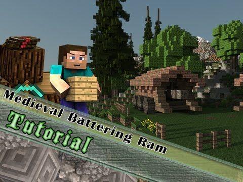 Minecraft Tutorial Medieval Battering Ram YouTube MC Castles - Minecraft spiele youtube