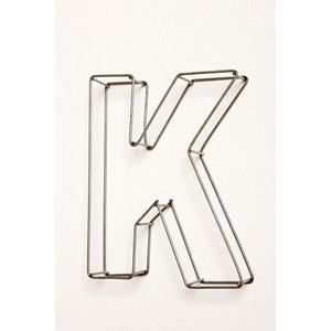 Large Wire Frame Letters Decor K
