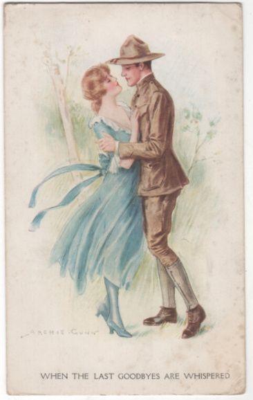 "archie gunn illustrator   Artist Signed Archie Gunn W W I ""When the Last…"
