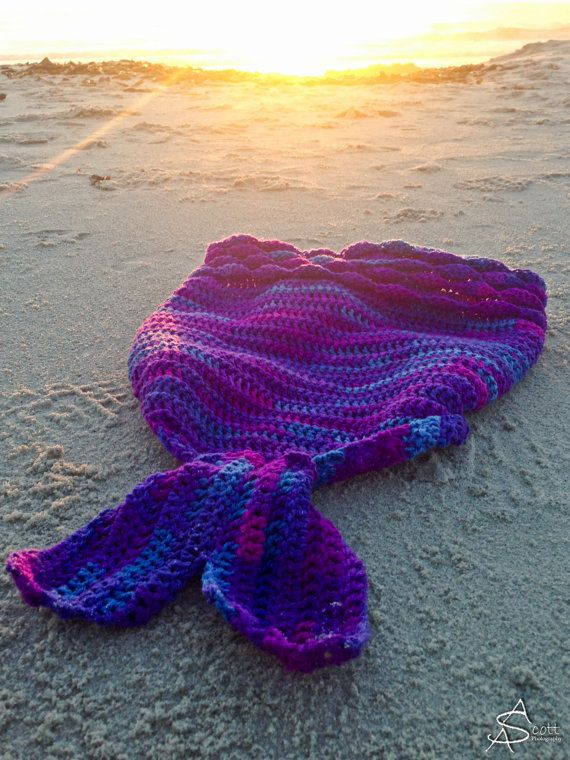 Crochet Mermaid Blanket Tutorial Youtube Video DIY   Manta, Tejido y ...