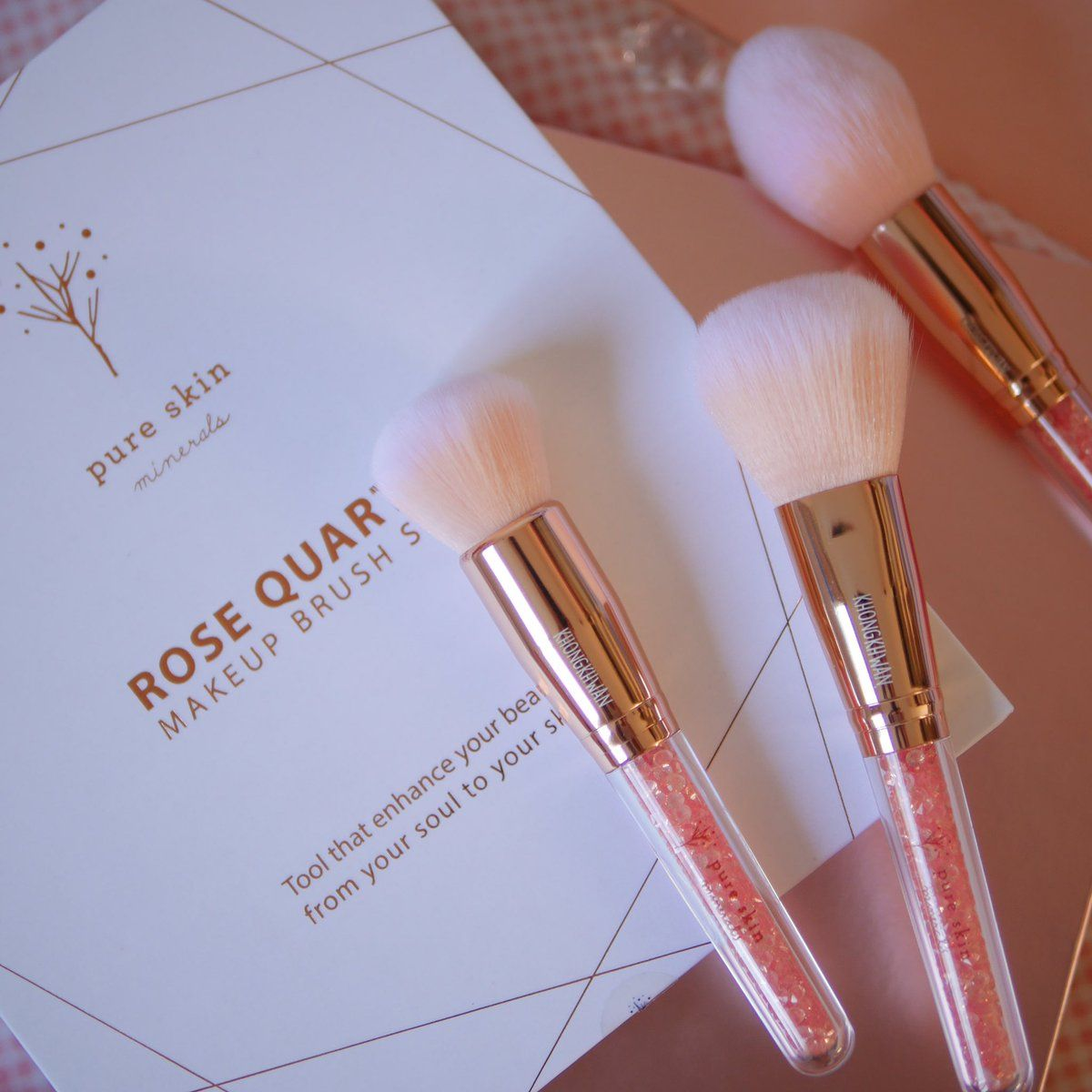 Pretty Rose Quartz Makeup Brushes Makeup brushes, Beauty