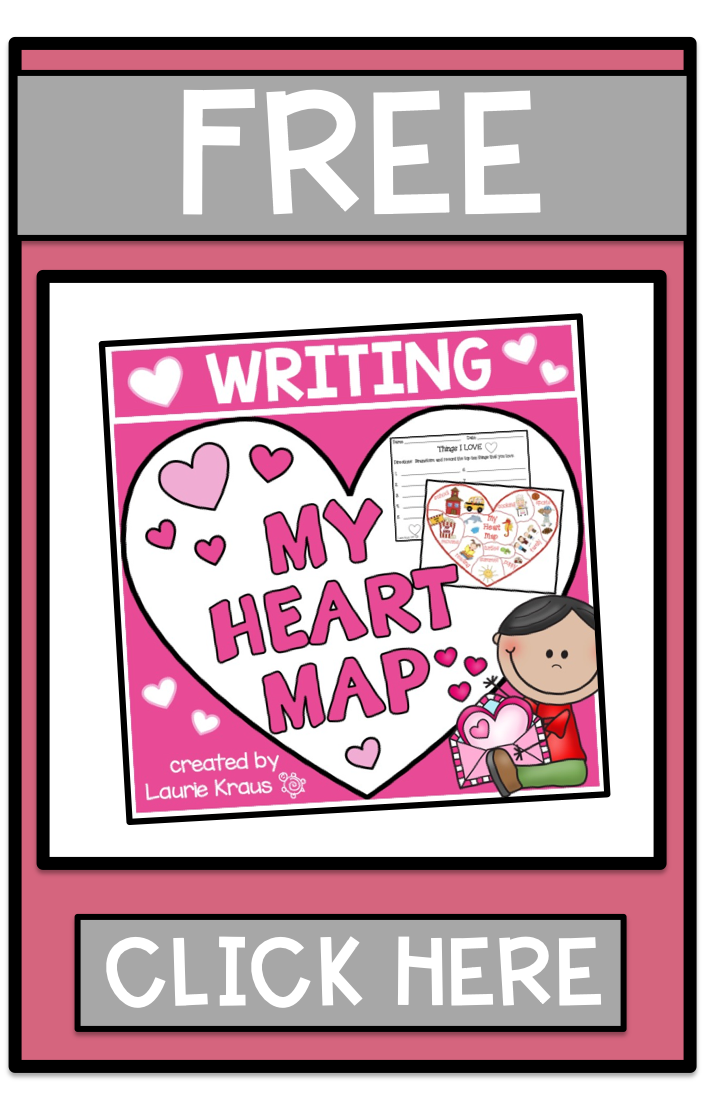 Get your FREE Heart Map Writing Activity here! (With