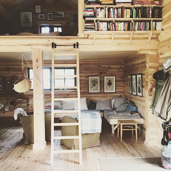 Lofted Library - These Cabin Pics Will Inspire Your Next Adventure - Photos