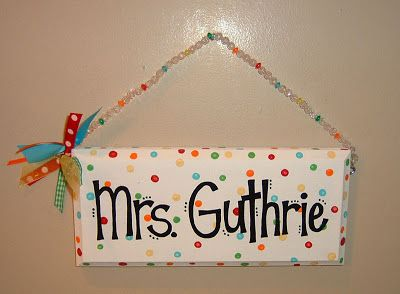 teacher name signs - Google Search