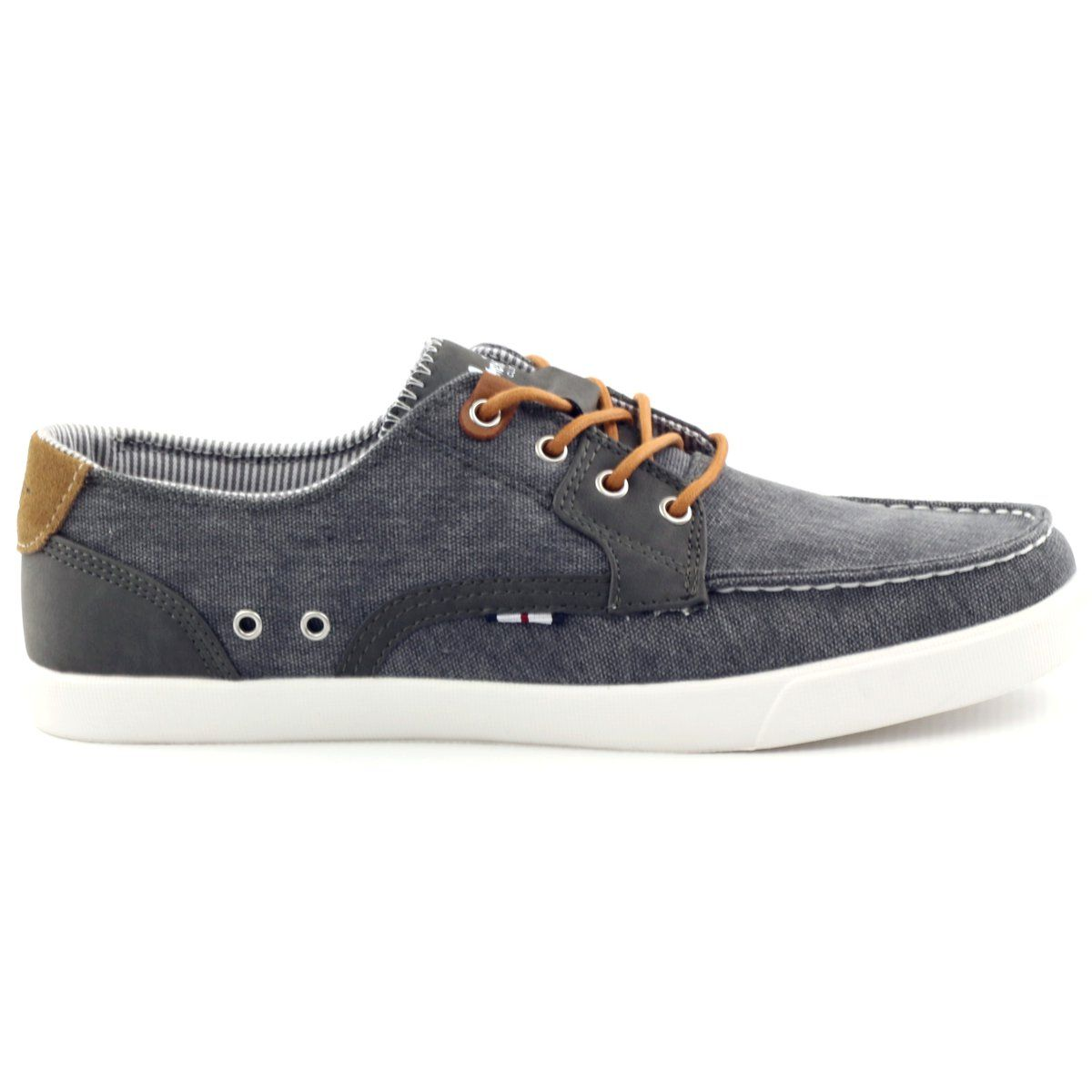 American Club Buty Meskie Mokasyny Tekstylne American 205081 Szare Men S Shoes Shoes Loafers