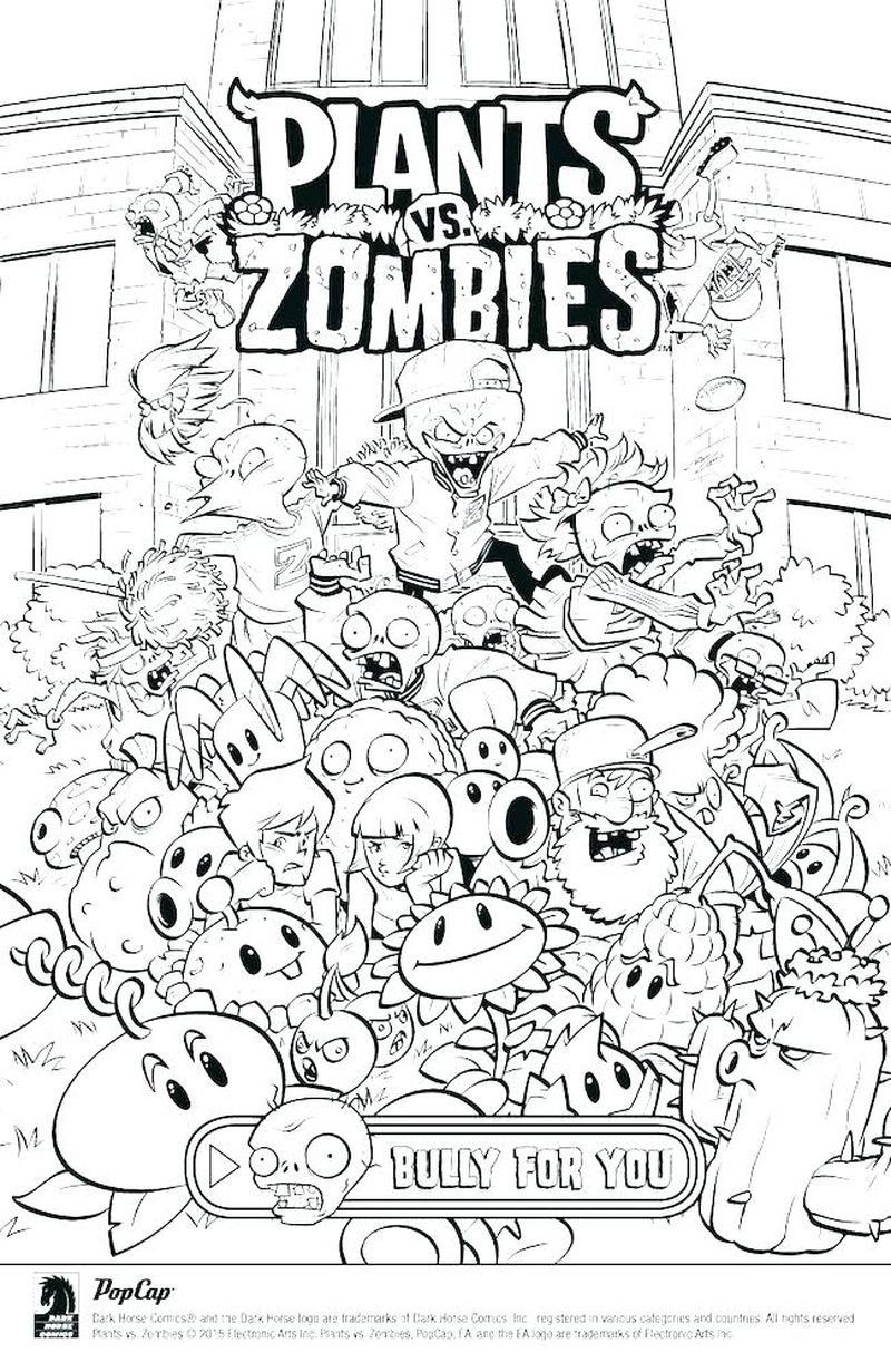 Plants Vs Zombies Coloring Book Coloring Book Plants Vs Zombies Coloring Sheets Image In 2020 Plants Vs Zombies Coloring Books Plant Zombie