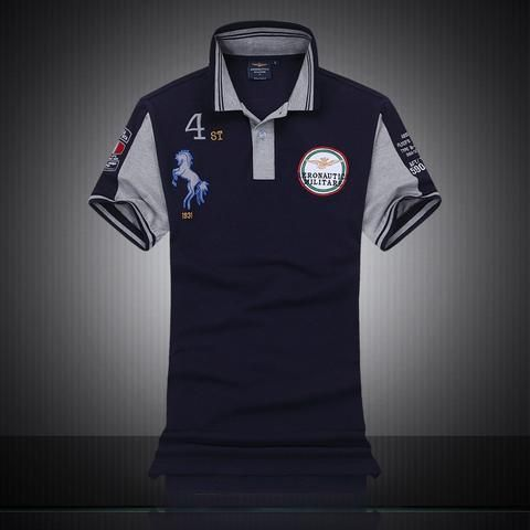 Summer New 2018 Brand Cotton Air Force One Embroidery Men s Aeronautica  Militare Men polo shirts Diamond 2563cfaa5