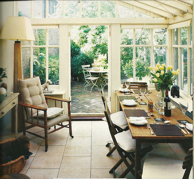 Sunroom Dining Room Ideas: Saving This Image For Scale If We Add On A Sunroom. Love