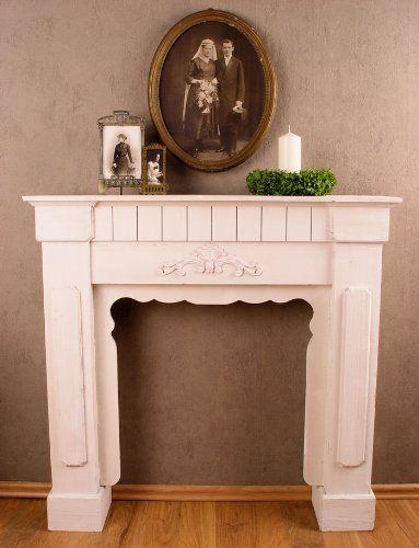 Romantische Kaminumrandung, Wandverzierung, Kaminrand, Kamin - schöne bilder für wohnzimmer