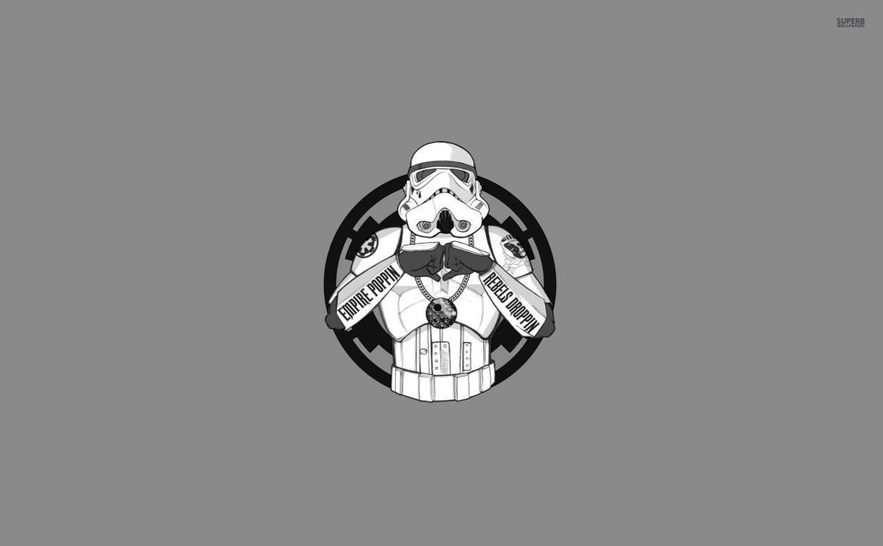 Gangsta' Stormtrooper HD Wallpaper