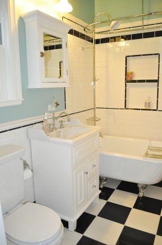 black and white tile floors??? | Bathroom | Pinterest | White tiles ...