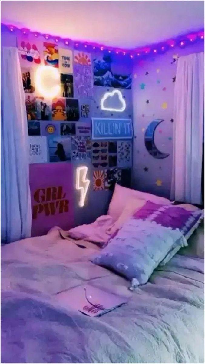Aesthetic Tiktok Room Neon Room Room Design Bedroom Room Inspiration Bedroom
