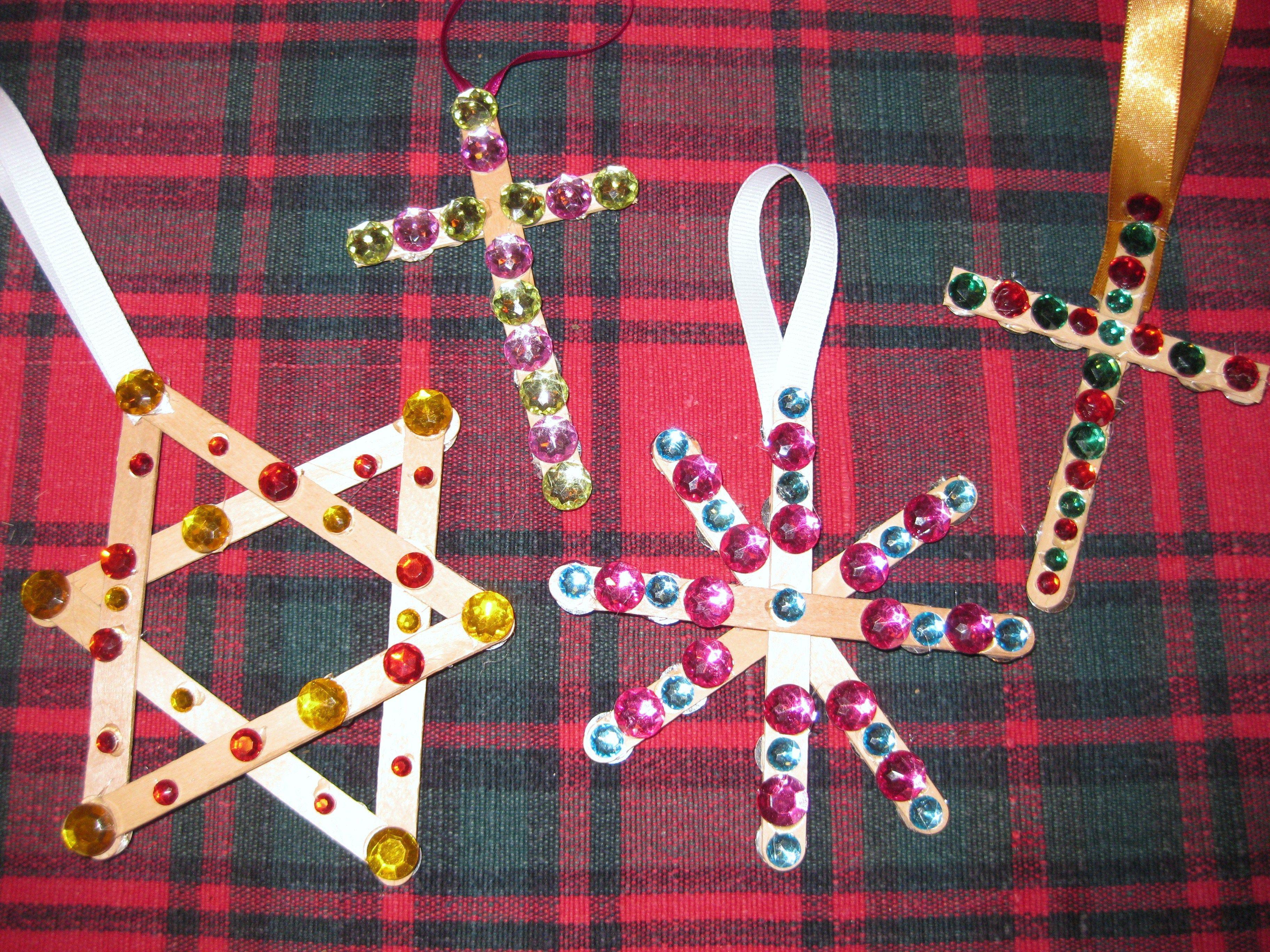 Preschool Crafts For Kids Christmas Cross Star Ornament Craft