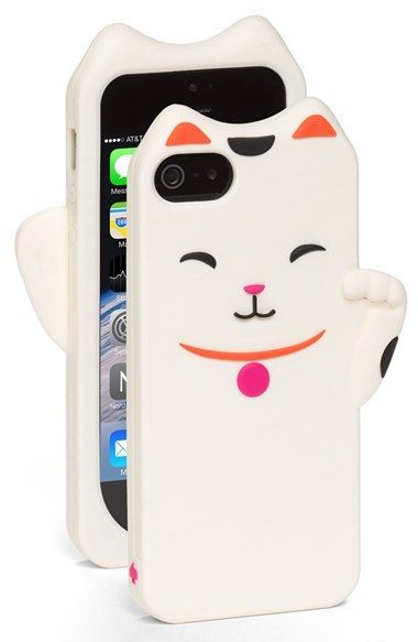 newest 966cb 44adc kate spade new york 'cat' iPhone 5 & 5s case #neko Japanese good ...