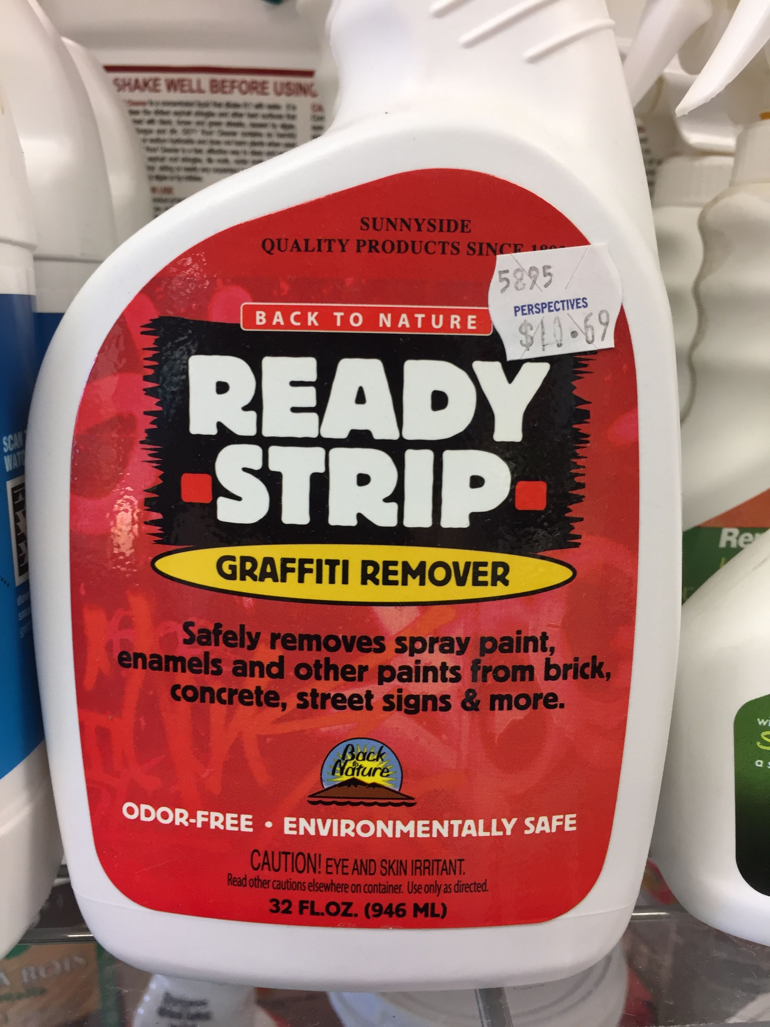 Back To Nature Ready Strip Graffiti Remover Is An Environmentally Safe Water Based Biodegrada Remove Paint From Concrete Paint Remover Biodegradable Products