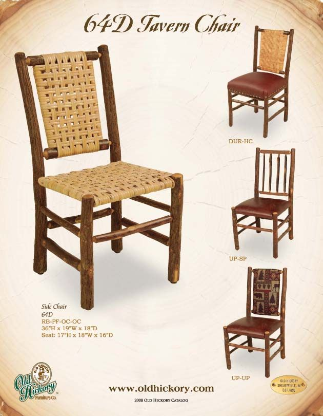 in by old hickory furniture in hawley pa tavern chair - Old Hickory Furniture