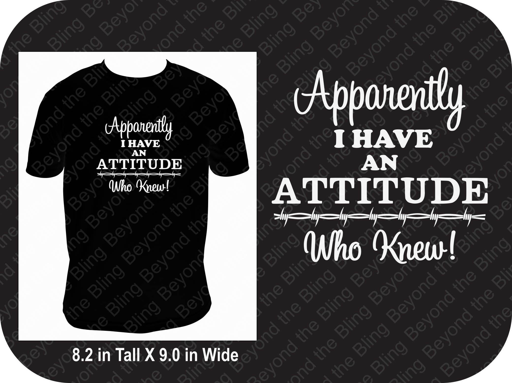 I have an attitude shirt I have attitude tank attitude v