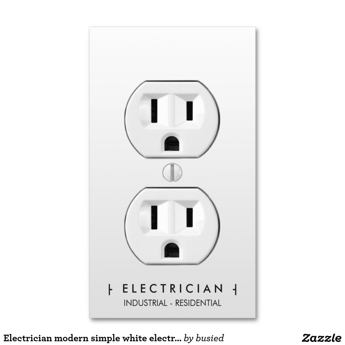 Electrician modern simple white electrical outlet double sided electrician modern simple white electrical outlet double sided standard business cards pack of 100 magicingreecefo Images