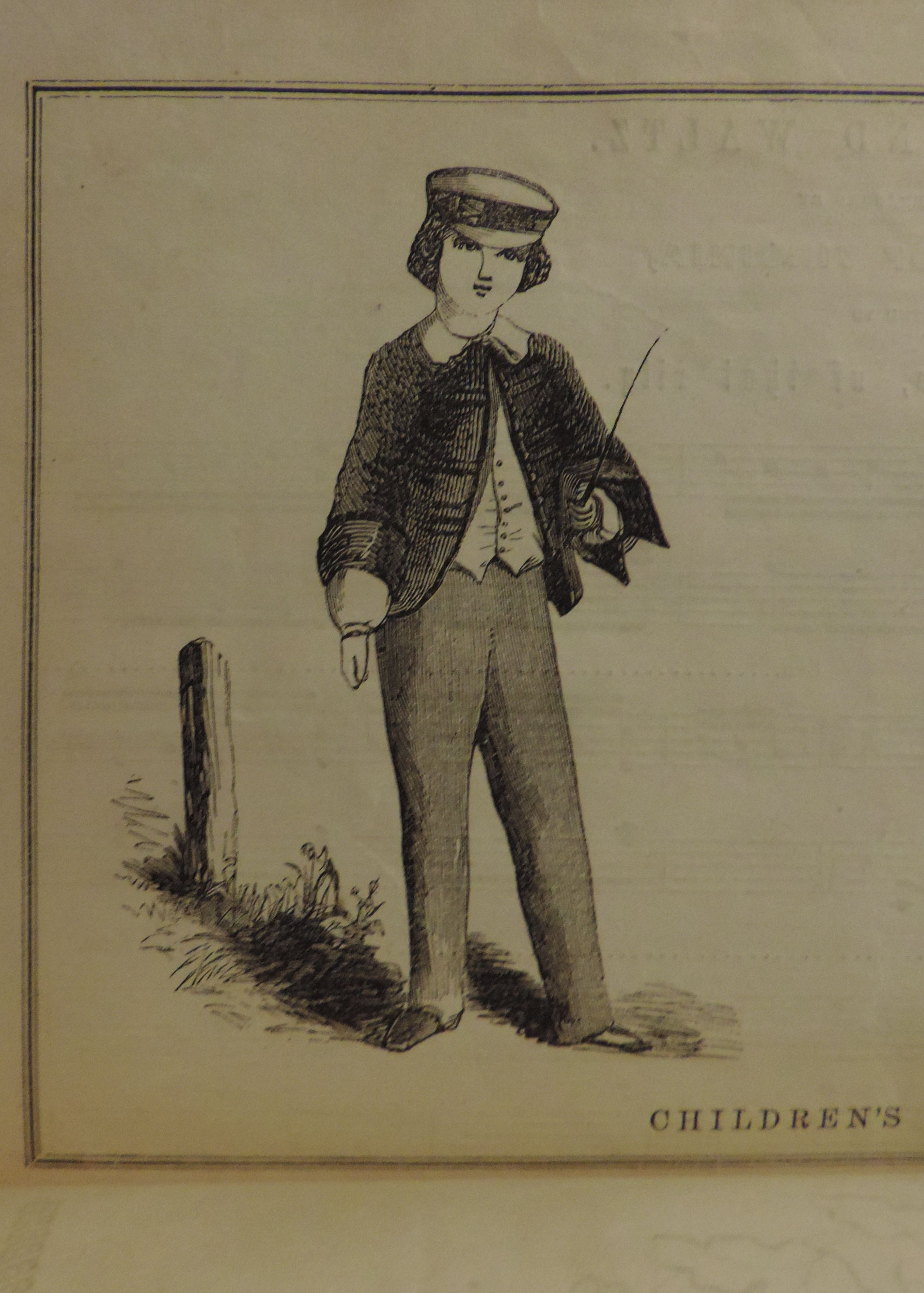 Godey's April 1856 Costume for a boy nine years of age