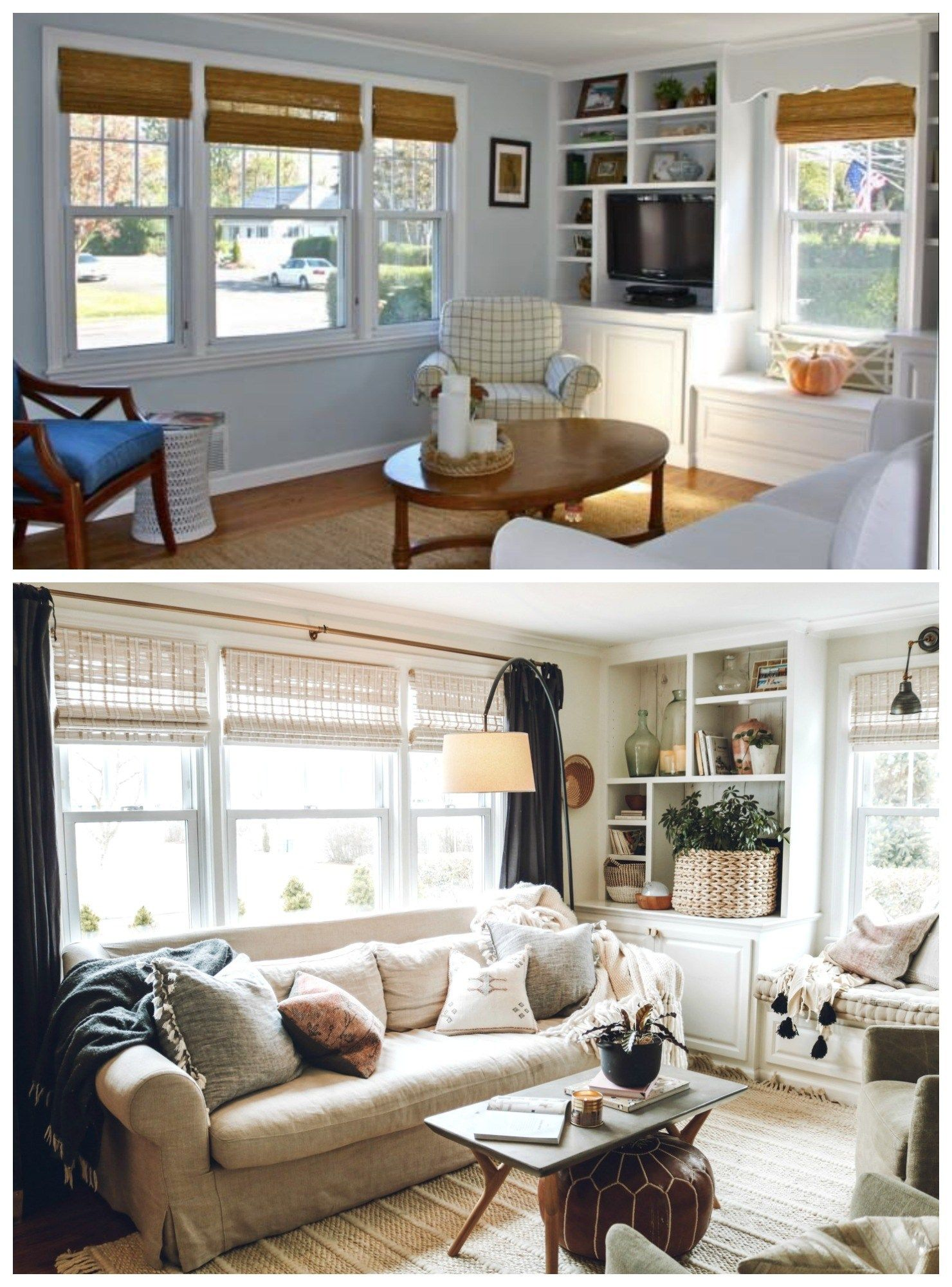 Complete Before And After S 1100 Sq Ft Cape Floor Plan And Future Nesting With Grace Living Room Design Styles Living Room Design Modern Cape Style Homes