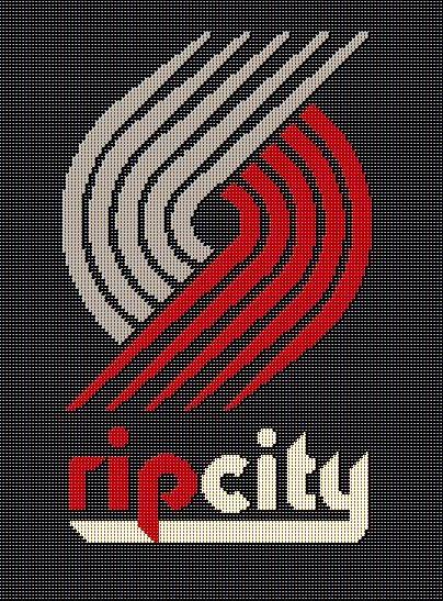5 Portland Trailblazers Crochet Blanket Pattern Rip City Oregon Nba Basket Crochet For Beginners Blanket Crochet Blanket Patterns Crochet Design Pattern